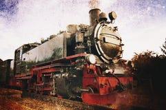 Vecchia locomotiva a vapore Immagini Stock Libere da Diritti