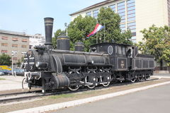 Vecchia locomotiva a vapore Fotografie Stock