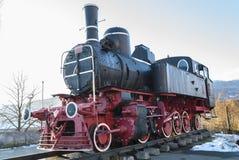 Vecchia locomotiva a vapore di Petrosani Immagine Stock Libera da Diritti