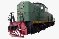 Vecchia locomotiva verde Fotografie Stock