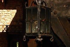 Vecchia luce della lampada di via Fotografie Stock Libere da Diritti