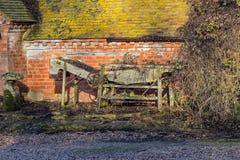 Vecchia macchina agricola inglese fotografia stock