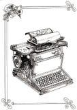 Vecchia macchina da scrivere con i monogrammi Immagine Stock Libera da Diritti
