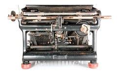 Vecchia macchina da scrivere dalla parte posteriore Immagine Stock