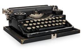 Vecchia macchina da scrivere portatile d'annata antica, con l'alfabeto polacco KE Immagine Stock Libera da Diritti
