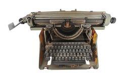 Vecchia macchina da scrivere russa polverosa Immagine Stock