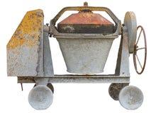 Vecchia macchina del miscelatore di cemento Immagini Stock Libere da Diritti