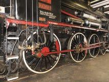 Vecchia macchina della ferrovia della locomotiva a vapore Fotografie Stock Libere da Diritti