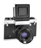 Vecchia macchina fotografica classica Immagine Stock