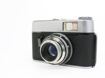 Vecchia macchina fotografica classica della pellicola con il percorso di residuo della potatura meccanica immagine stock libera da diritti