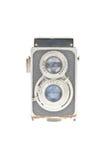 Vecchia macchina fotografica con due obiettivi Fotografia Stock Libera da Diritti