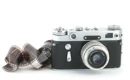 Vecchia macchina fotografica con una pellicola Fotografia Stock Libera da Diritti
