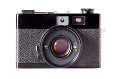 Vecchia macchina fotografica d'annata della foto, isolata su bianco Fotografia Stock Libera da Diritti