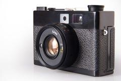 Vecchia macchina fotografica d'annata della foto, isolata su bianco Fotografia Stock
