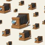 Vecchia macchina fotografica del fondo senza cuciture Fotografie Stock Libere da Diritti
