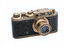 Vecchia macchina fotografica del telemetro Fotografia Stock