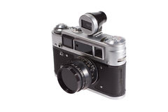 Vecchia macchina fotografica del telemetro dell'annata Immagini Stock