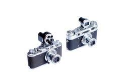Vecchia macchina fotografica dell'annata Fotografie Stock