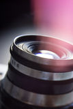 Vecchia macchina fotografica dell'annata della macchina fotografica della lente Fotografia Stock