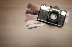 Vecchia macchina fotografica della foto Fotografia Stock