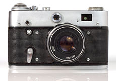 Vecchia macchina fotografica della foto del viewfinder Fotografie Stock Libere da Diritti