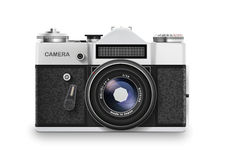 Vecchia macchina fotografica della foto Vettore Immagini Stock Libere da Diritti