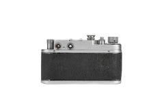Vecchia macchina fotografica della pellicola isolata su bianco Immagini Stock Libere da Diritti