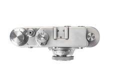 Vecchia macchina fotografica della pellicola isolata su bianco Immagini Stock