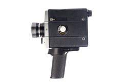 Vecchia macchina fotografica della pellicola isolata su bianco Fotografie Stock Libere da Diritti