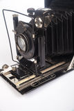 Vecchia macchina fotografica della pellicola isolata su bianco Immagine Stock Libera da Diritti