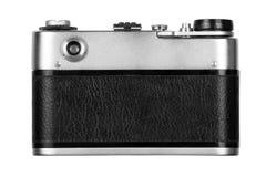 Vecchia macchina fotografica della pellicola su priorità bassa bianca immagine stock libera da diritti