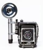 Vecchia macchina fotografica della pressa Immagine Stock