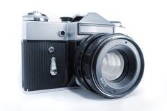 Vecchia macchina fotografica dello slr Fotografia Stock