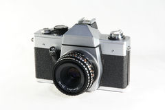 Vecchia macchina fotografica di 35mm Fotografia Stock