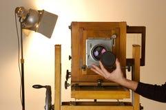 Vecchia macchina fotografica di casella Immagine Stock