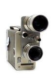 Vecchia macchina fotografica di film 16 millimetri con due obiettivi Immagini Stock Libere da Diritti