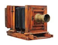 Vecchia macchina fotografica di legno Fotografia Stock Libera da Diritti