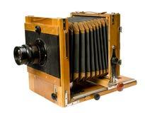 Vecchia macchina fotografica di legno Immagine Stock