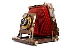 Vecchia macchina fotografica di legno della foto Immagine Stock