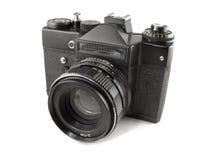 Vecchia macchina fotografica di SLR Fotografia Stock