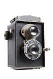 Vecchia macchina fotografica di TLR Immagini Stock