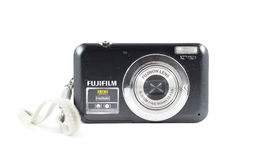Vecchia macchina fotografica digitale di Fujifilm 12MP del tiro e del punto Fotografia Stock Libera da Diritti