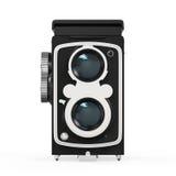 Vecchia macchina fotografica gemellata della lente Immagine Stock Libera da Diritti