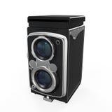 Vecchia macchina fotografica gemellata della lente Fotografie Stock