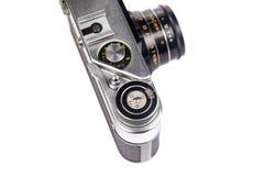 Vecchia macchina fotografica istantanea isolata su bianco Immagini Stock