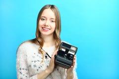 Vecchia macchina fotografica istante fotografia stock libera da diritti