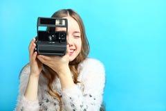 Vecchia macchina fotografica istante fotografia stock