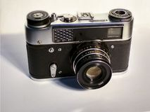 Vecchia macchina fotografica le basi di fotografia in High School fotografia stock libera da diritti