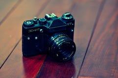 Vecchia macchina fotografica russa Immagini Stock