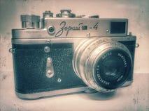 Vecchia macchina fotografica sovietica fotografia stock